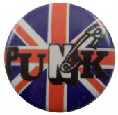 Punk - 'Safety Pin' Button Badge